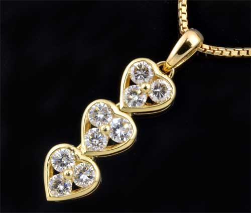 K18 ダイヤモンド 0.76ct18金 ペンダントネックレス《送料無料!》
