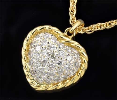 K18 ダイヤモンド 0.80ct18金 ペンダントネックレス《送料無料!》