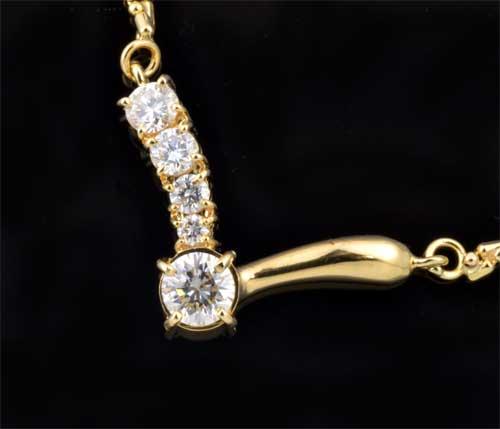 K18 ダイヤモンド 0.35ctダイヤ 0.31ct 18金 プチネックレス《送料無料!》
