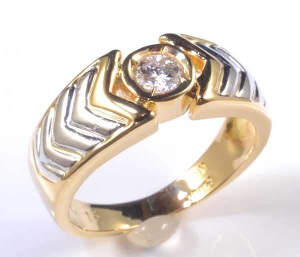 K/P ダイヤモンド 0.15ct 18金 プラチナ ピンキーリング《送料無料!》