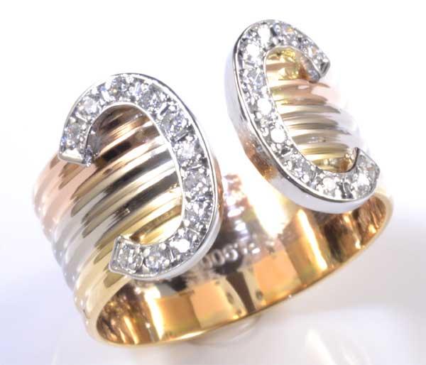 K/P ダイヤモンド 0.22ct 18金 プラチナ リング《送料無料!》
