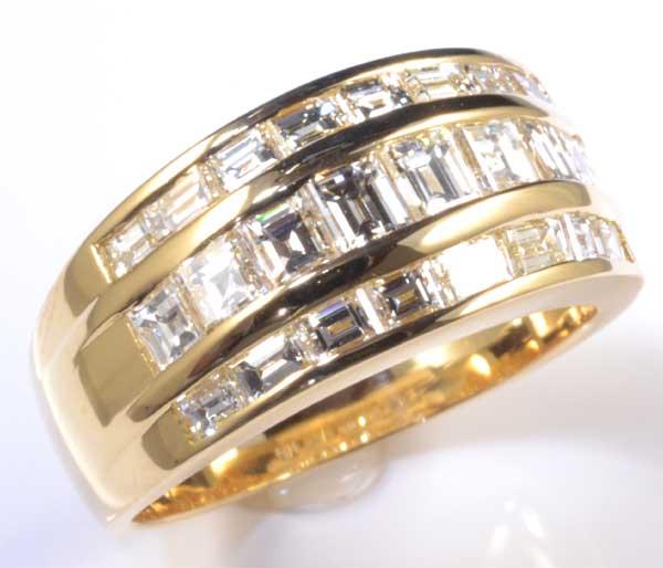 K18 バゲットカットダイヤモンド 1.81ct 18金 リング《送料無料!》