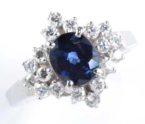 Pt サファイア 0.92ctダイヤモンド0.44ct プラチナ リング《送料無料!》