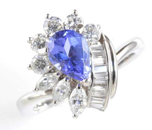 Pt タンザナイト 0.86ctダイヤモンド0.68ct プラチナ リング《送料無料!》