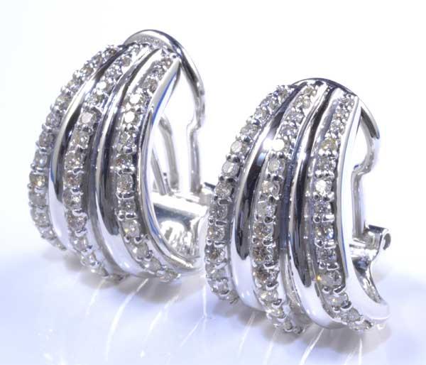 K18WG ダイヤモンド 0.54ctダイヤ0.54ct ホワイトゴールド イヤリング・ピアス《送料無料!》