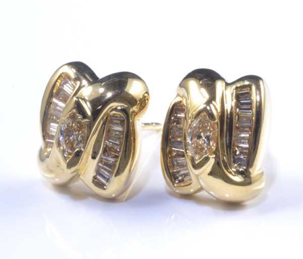 K18 ダイヤモンド 0.21ctダイヤ0.21ct 18金 ピアス《送料無料!》