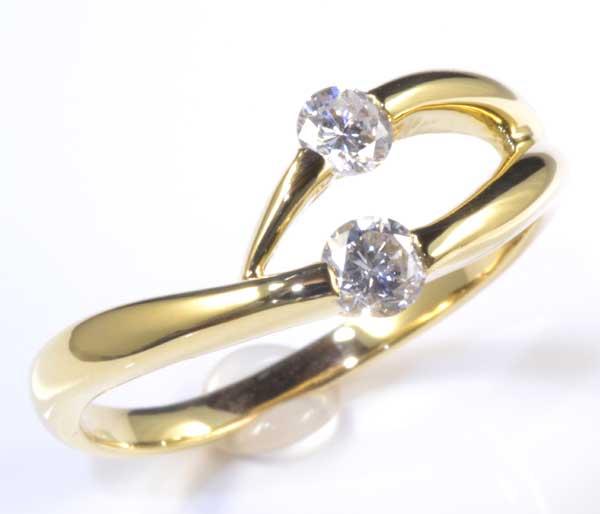 K18 ダイヤモンド 0.34ct 18金 リング《送料無料!》