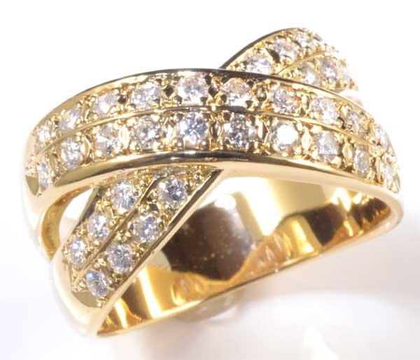 K18 ダイヤモンド 0.57ct 18金 リング《送料無料!》