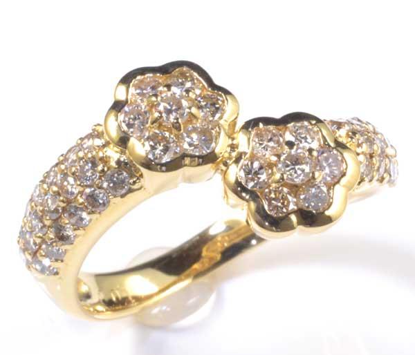 K18 ダイヤモンド 1.00ct 18金 リング《送料無料!》