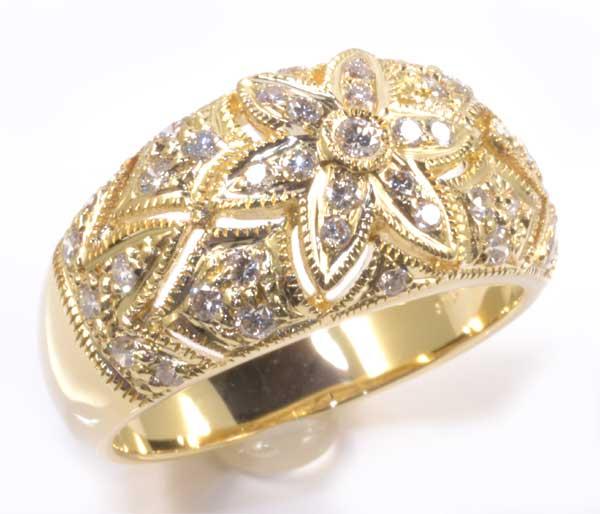 K18 ダイヤモンド 0.50ct 18金 リング《送料無料!》