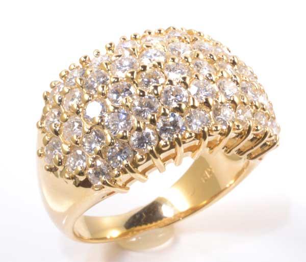 K18 ダイヤモンド 2.50ct 18金 リング《送料無料!》