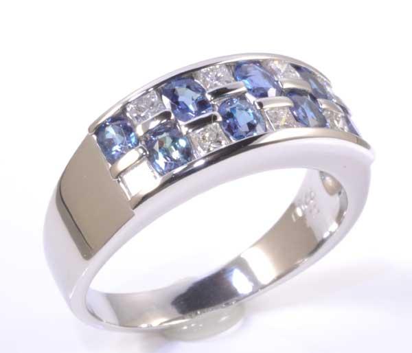 Pt アレキサンドライト 1.10ctダイヤモンド0.44ct プラチナ リング《送料無料!》