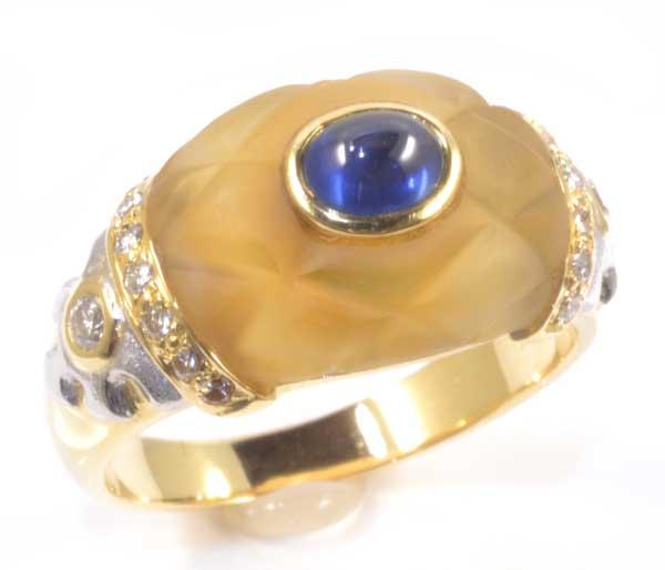 K/P サファイア 0.65ctダイヤモンド0.26ct 18金 プラチナ リング《送料無料!》