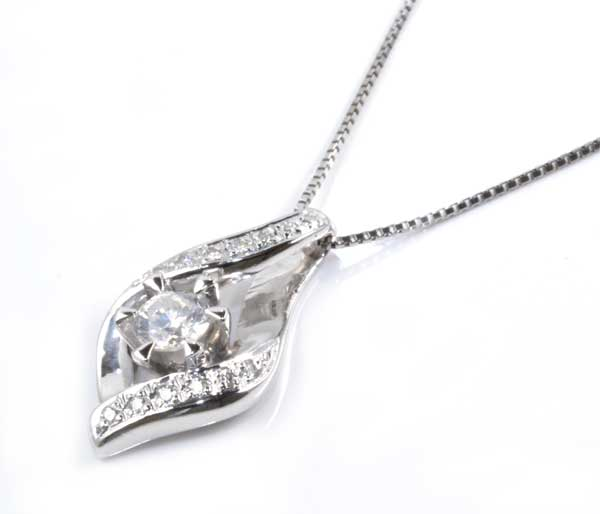 Pt ダイヤモンド 0.50ctプラチナ ペンダントネックレス《送料無料!》