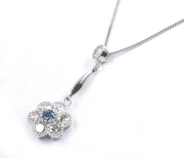 Pt アレキサンドライト 0.10ctダイヤモンド 0.68ct プラチナ ペンダントネックレス《送料無料!》