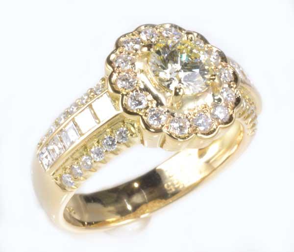 K18 ダイヤモンド 0.565ct VLY-VS1ダイヤ 0.72ct 18金 リング《送料無料!》