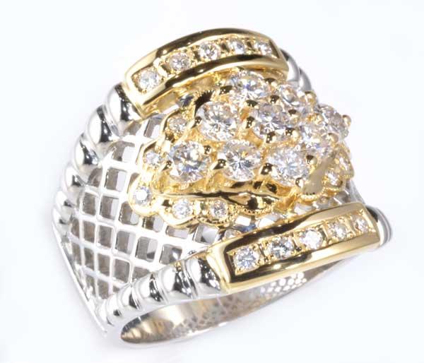 P/K ダイヤモンド 1.88ct プラチナ 18金 リング《送料無料!》