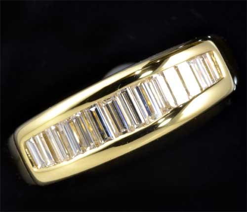 K18 ダイヤモンド 0 67ct一文字 18金 リング 送料無料jAL4R3qc5