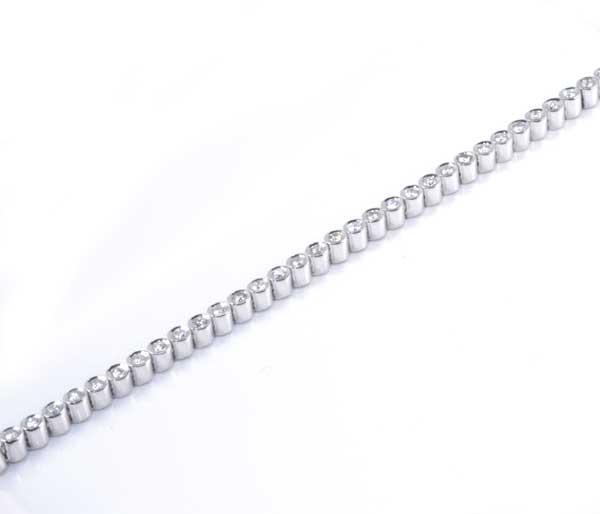 K18WG ダイヤモンド 1.04ct ホワイトゴールド テニスブレスレット《送料無料!》