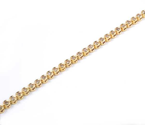 K18 ダイヤモンド 1.00ct 18金 テニスブレスレット《送料無料!》