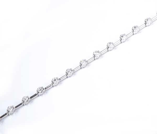 K18WG ダイヤモンド 1.25ct ホワイトゴールド ブレスレット《送料無料!》