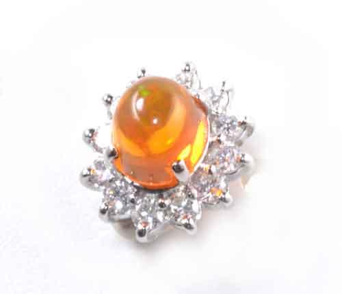 Pt/K14WG メキシコオパール 1.29ctダイヤモンド0.409ct プラチナ ホワイトゴールド タイタック《送料無料!》
