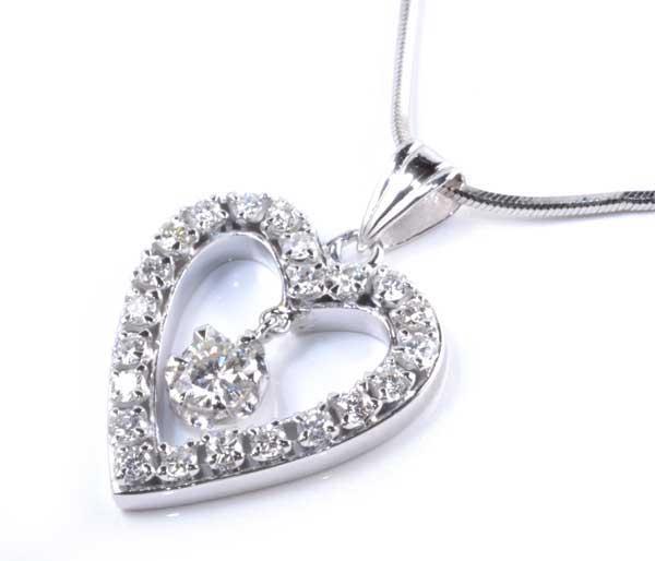 Pt ダイヤモンド 0.23ctダイヤモンド0.44ct プラチナ ペンダントネックレス《送料無料!》