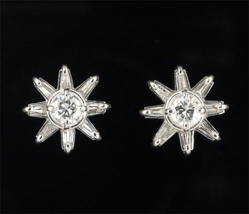 Pt ダイヤモンド 1.04ctプラチナ ピアス《送料無料!》