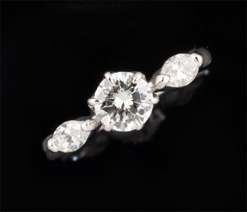 Pt ダイヤモンド 0.497ct G-VS2 Goodダイヤモンド0.31ct プラチナ リング《送料無料!》