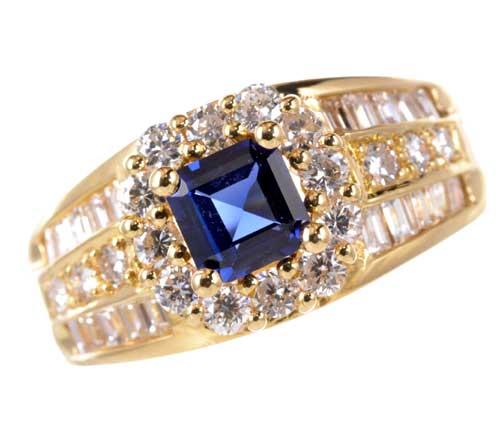 K18 サファイア 0.64ctダイヤモンド0.57ct 18金 リング《送料無料!》