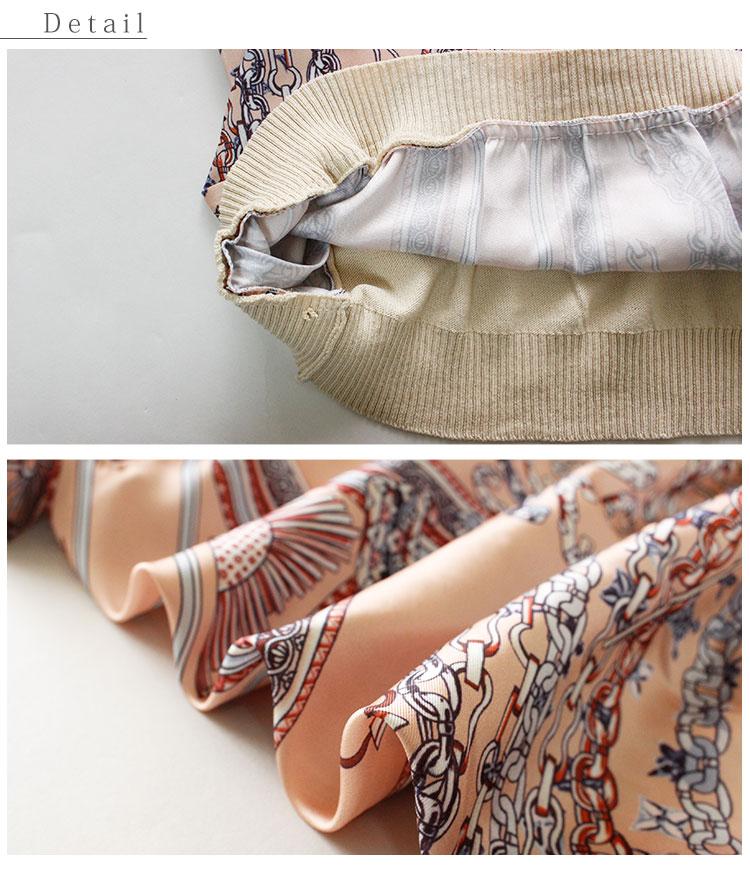 スカーフのボウタイリボンニットトップス レディース ファッション トップス ベージュ 異素材ミックス スカーフ 春 秋 ニット ボウタイリボン 大人 30代 40代 50代 60代 サワアラモード sawaalamode otona 大人 kawaii 可愛い 洋服 かわいい服大人可愛いDH9E2I