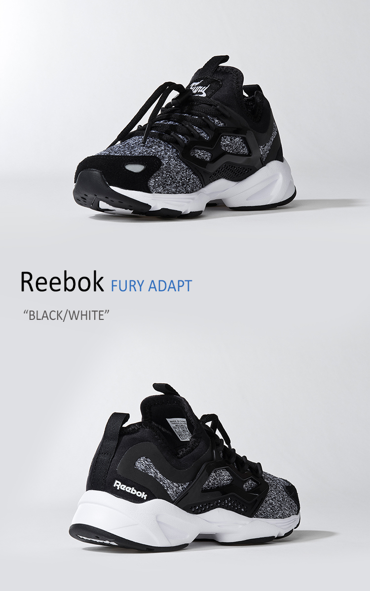 Reebok Classic FURY ADAPT BlackWhite shoes