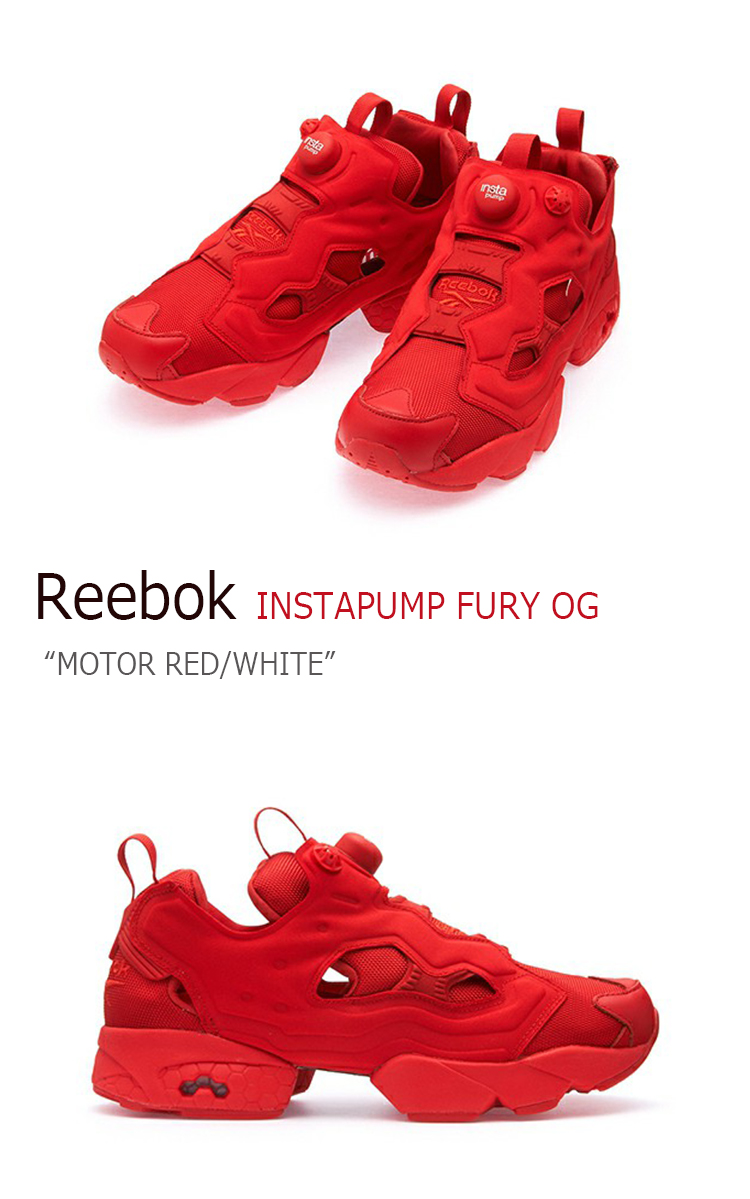 reebok insta pump red