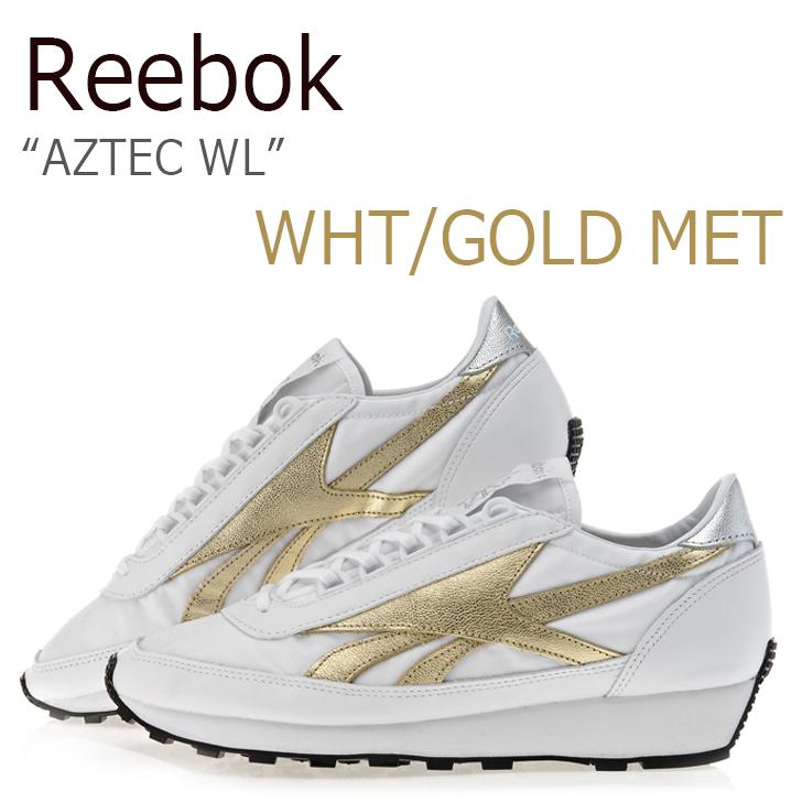 Reebok AZTEC WL/White/Gold Met/Silver Met/Black【リーボック】【アズテック】【BS5942】 シューズ