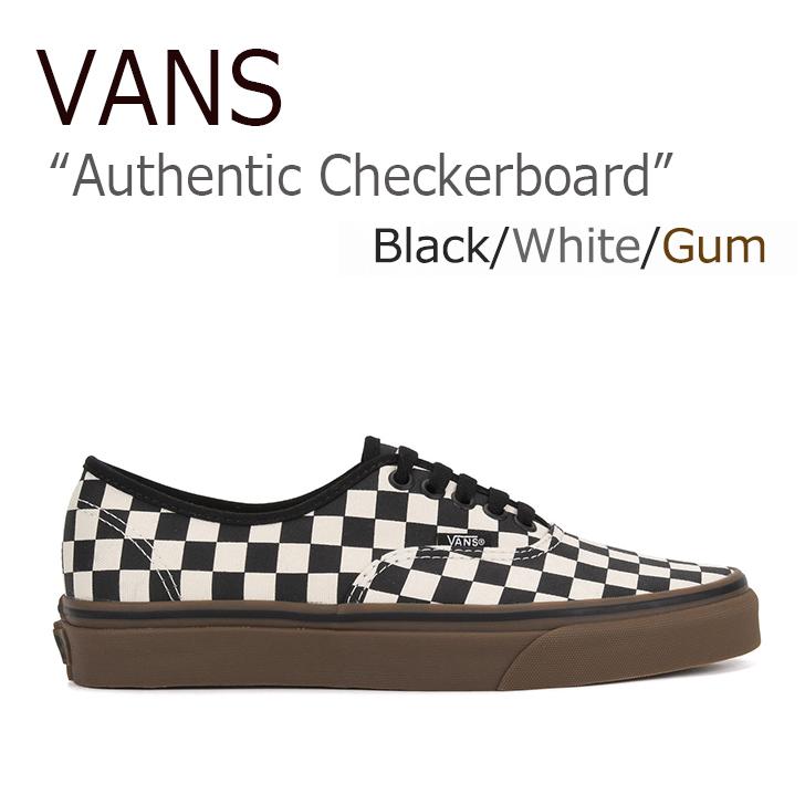 VANS AUTHENTIC Checkerboard Black/White/Gum【バンズ】【オーセンティック】【VN0004MKIBB】 シューズ