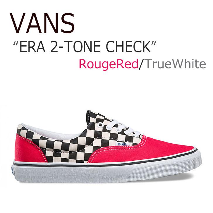 VANS ERA 2-TONE CHECK/Rouge Red/True