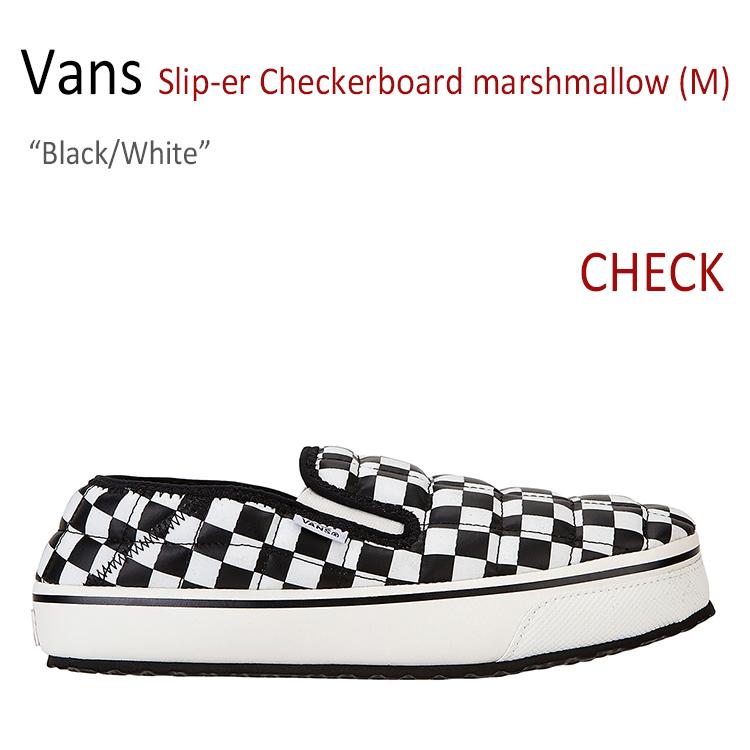 バンズ スリッパー スニーカー Vans メンズ レディース Slip-er Checkerboard チェッカーボード Marshmallow マシュマロ Black White ブラック ホワイト FLVN7F3U12 VN0A344OKAG1シューズ
