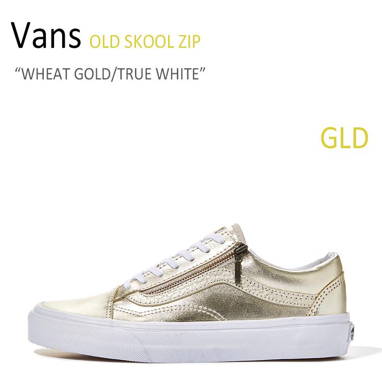 Vans OLD SKOOL ZIP/WHEAT GOLD/TRUE WHITE【バンズ】【オールドスクール】【VN00018GIGY】 シューズ