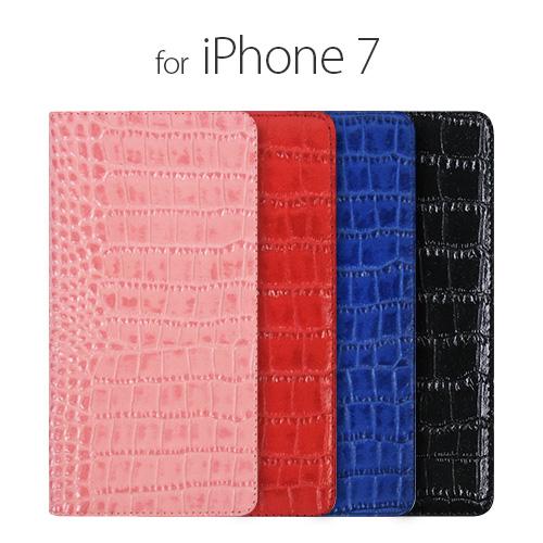 お取り寄せ iPhone8 iPhone7 ケース カバー 手帳型 Gaze Vivid Croco Diary ビビッドクロコダイアリー レザーケース for iPhone 7 4.7インチモデル アイフォン7