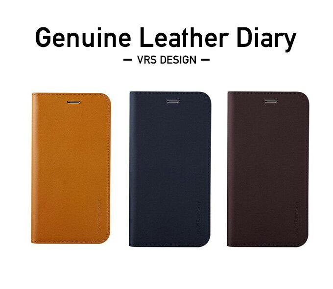iPhone X ケース VRS DESIGN Genuine Leather Diary ハンドメイド レザー マグネットなし 手帳 アイフォンX カバー お取り寄せ
