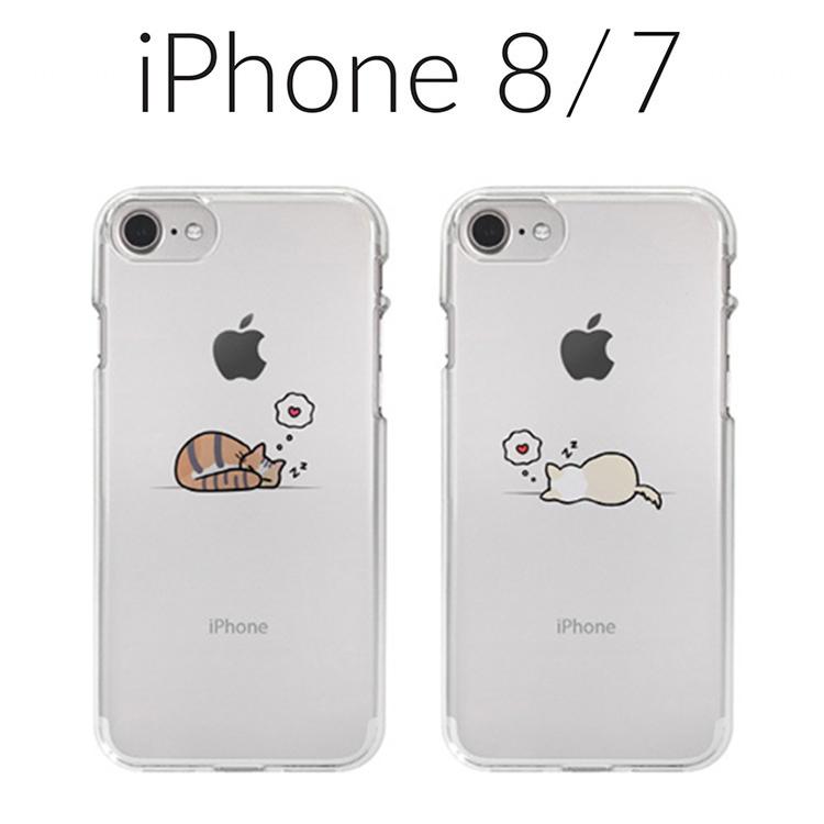 iPhone8 iPhone7 アイフォン 8 7 猫 犬 かわいい iPhone ケース アイフォン7 驚きの値段で ディーパークス お取り寄せ Dparks ソフトクリアケース 大注目 4.7インチ アイフォン8 昼寝 カバー