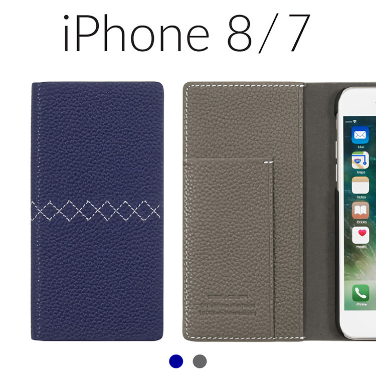 iPhone 8 ケース iPhone 7 カバー 手帳型 本革 Eblouir Zigzag Diary エブルイ ジグザグダイアリー アイフォン8 アイフォン7 レザー 4.7インチ お取り寄せ
