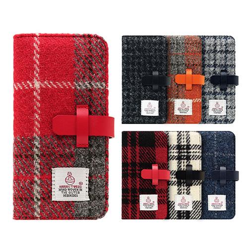 iPhone XS Max ケース 手帳型 本革 SLG Design Harris Tweed Diary(エスエルジー ハリスツイードダイアリー)アイフォン レザー カバー お取り寄せ