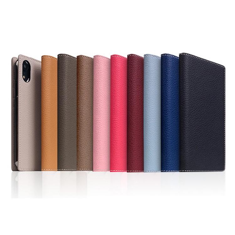 iPhone XS Max ケース手帳型 本革 SLG Design Full Grain Leather Case フルグレインレザー 天然革 パステル カラー 9色 お取り寄せ
