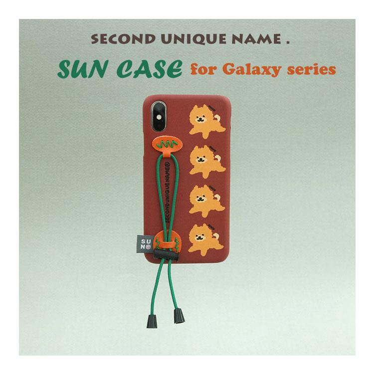 Galaxy S10 ケース Galaxy S10+ ケース Galaxy Note10+ ケース Galaxy S9 ケース Galaxy S9+ ケース Galaxy Note9 ケース Galaxy S8 ケース Galaxy S8+ 韓国 ベルト SECOND UNIQUE NAME YOUNG BOYZ SUN CASE STRING BURGUNDY 正規品 セカンドユニークネーム お取り寄せ