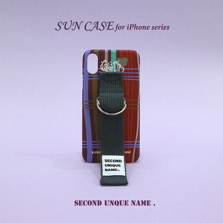 iPhone11 Pro ケース iPhone11 ケース iPhone11 Pro Max ケース iPhoneXS ケース iPhoneXR ケース iPhone8 韓国 ベルト iPhoneXS MAX iPhoneX iPhone7 iPhone8 Plus iPhone6s iPhoneSE SECOND UNIQUE NAME SMOKE BROWN DEEP GRAY PATTERN カバー 正規品 お取り寄せ