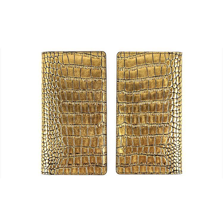 3e4dad6696 スマホケース 本革 手帳型 スライド式 多機種対応マルチケース Gaze Gold Croco Diary