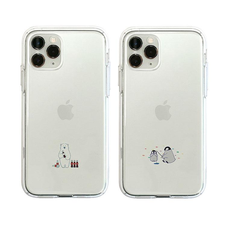 アイフォン11 ●日本正規品● プロマックス ケース アイフォン 11 iPhone11 Pro Max iPhone Dparks 新作からSALEアイテム等お得な商品満載 ディーパークス ペンギン お取り寄せ ミニ動物 シロクマ カバー ソフトクリアケース iPhone11ProMax