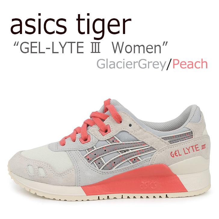 アシックスタイガー ゲルライト3 スニーカー asics tiger レディース GEL-LYTE lll Glacier Grey Peach グレー ピンク H7R6L-9676 シューズ