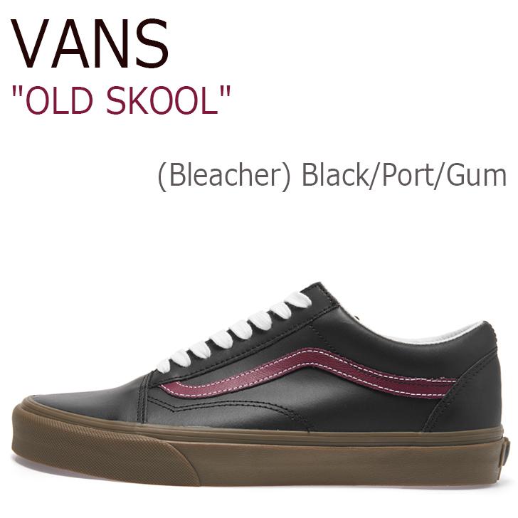 バンズ オールドスクール スニーカー VANS メンズ OLDSKOOL (Bleacher) Black Port Gum ブリーチャー ブラック ガムソール VN0A38G1OKR1 シューズ